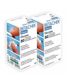 Betachek Visual blood glucose test strips (2 x 50's)